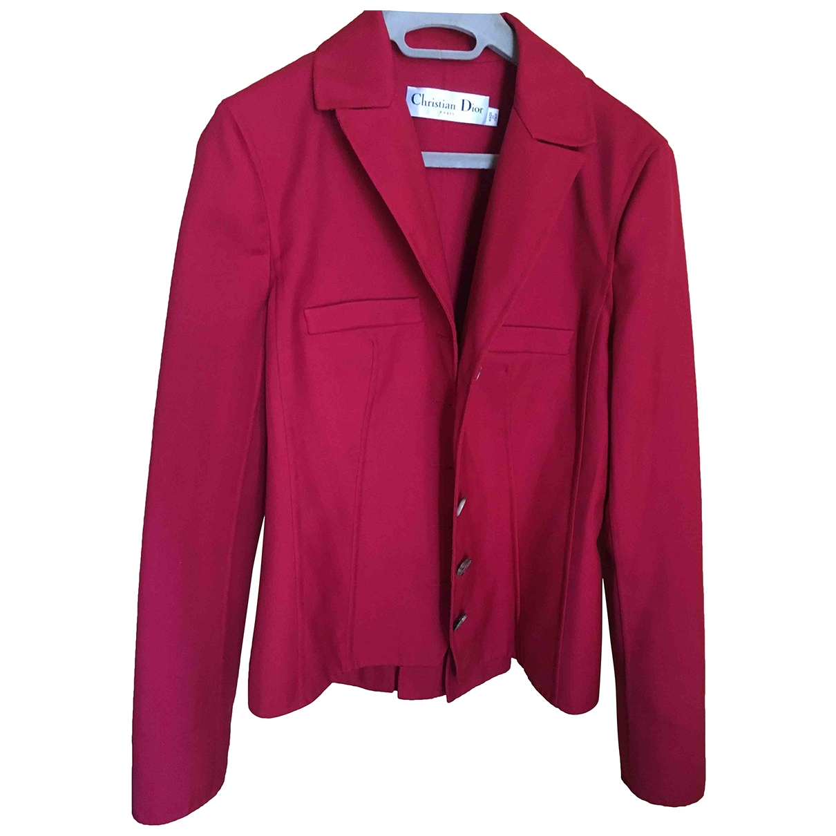 Dior \N Jacke in  Rot Wolle