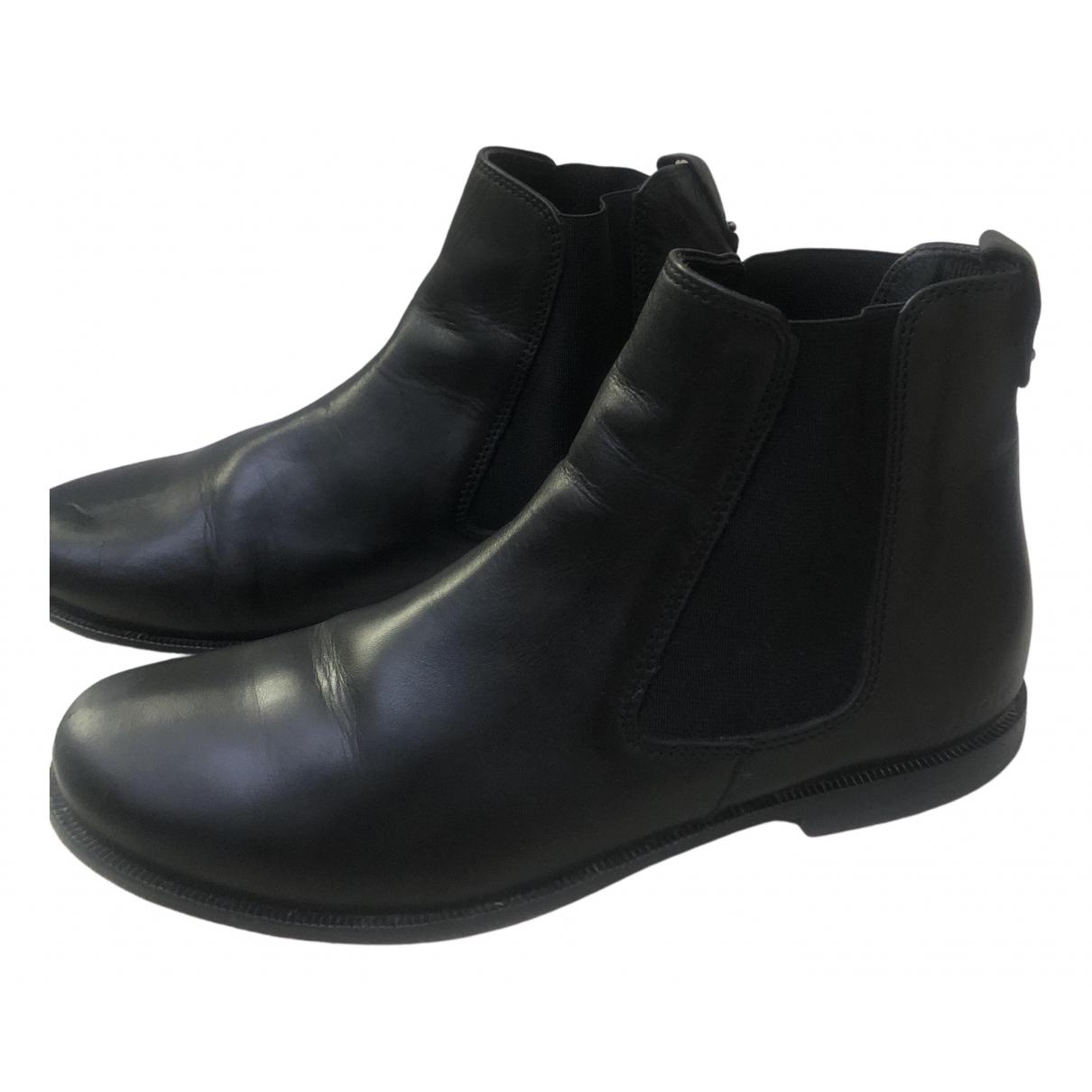 Dior - Bottes.Bottines   pour enfant en cuir - noir