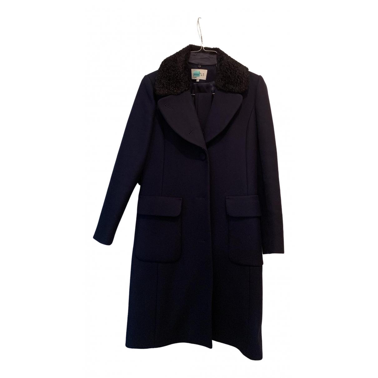 Claudie Pierlot - Manteau   pour femme en laine - bleu
