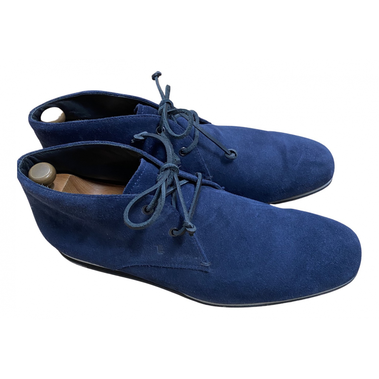 Tod's N Blue Suede Boots for Men 10 UK