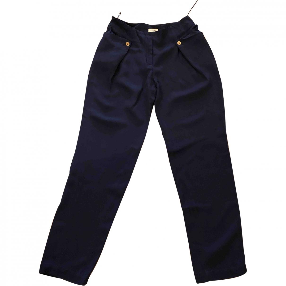 Kenzo \N Blue Trousers for Women 36 FR