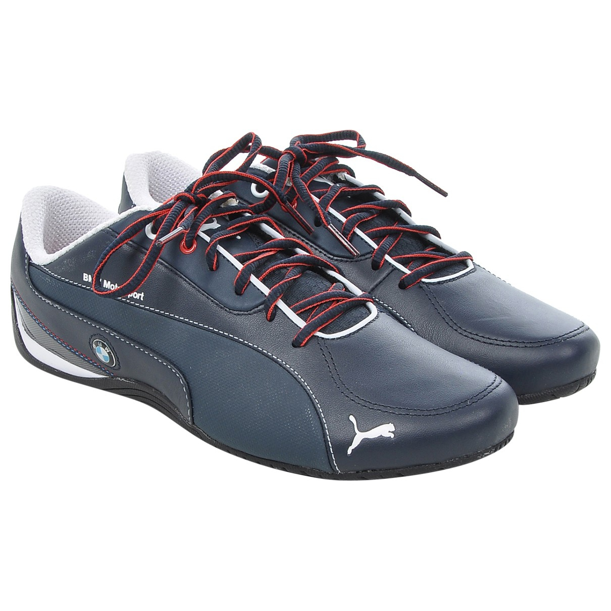 Puma \N Navy Leather Trainers for Men 41 EU