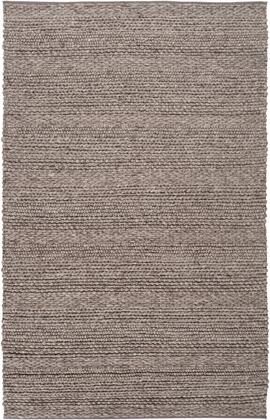 Tahoe TAH-3702 6' x 9' Rectangle Modern Rugs in Charcoal  Camel