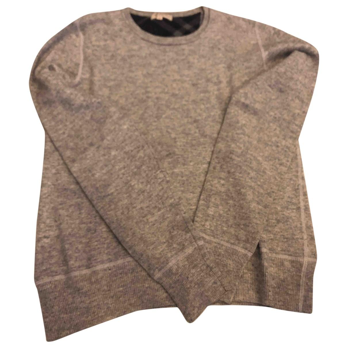 Burberry - Pulls.Gilets.Sweats   pour homme en laine - gris