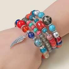 4pcs Bohemia Beaded Bracelet