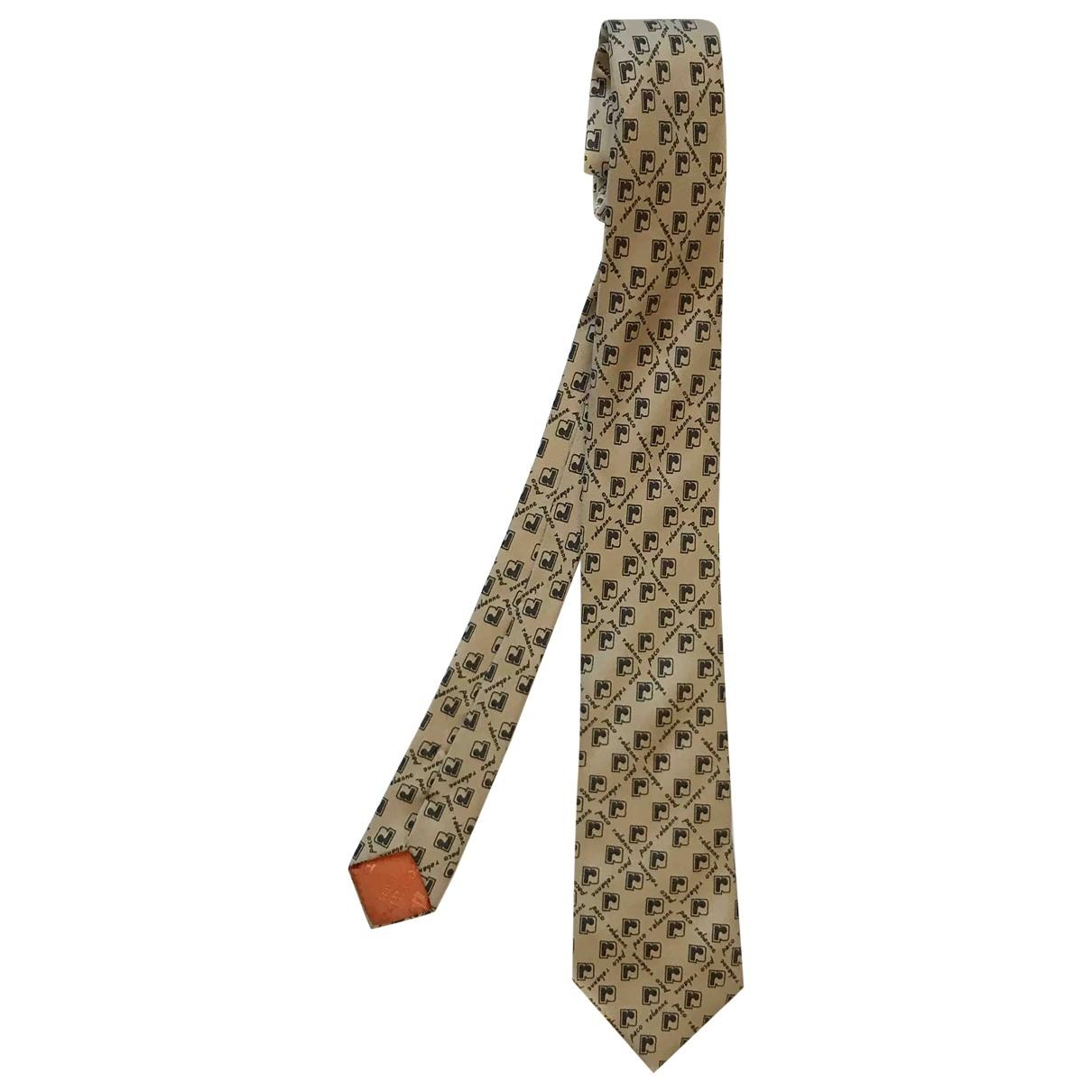 Paco Rabanne \N Krawatten in  Beige Seide