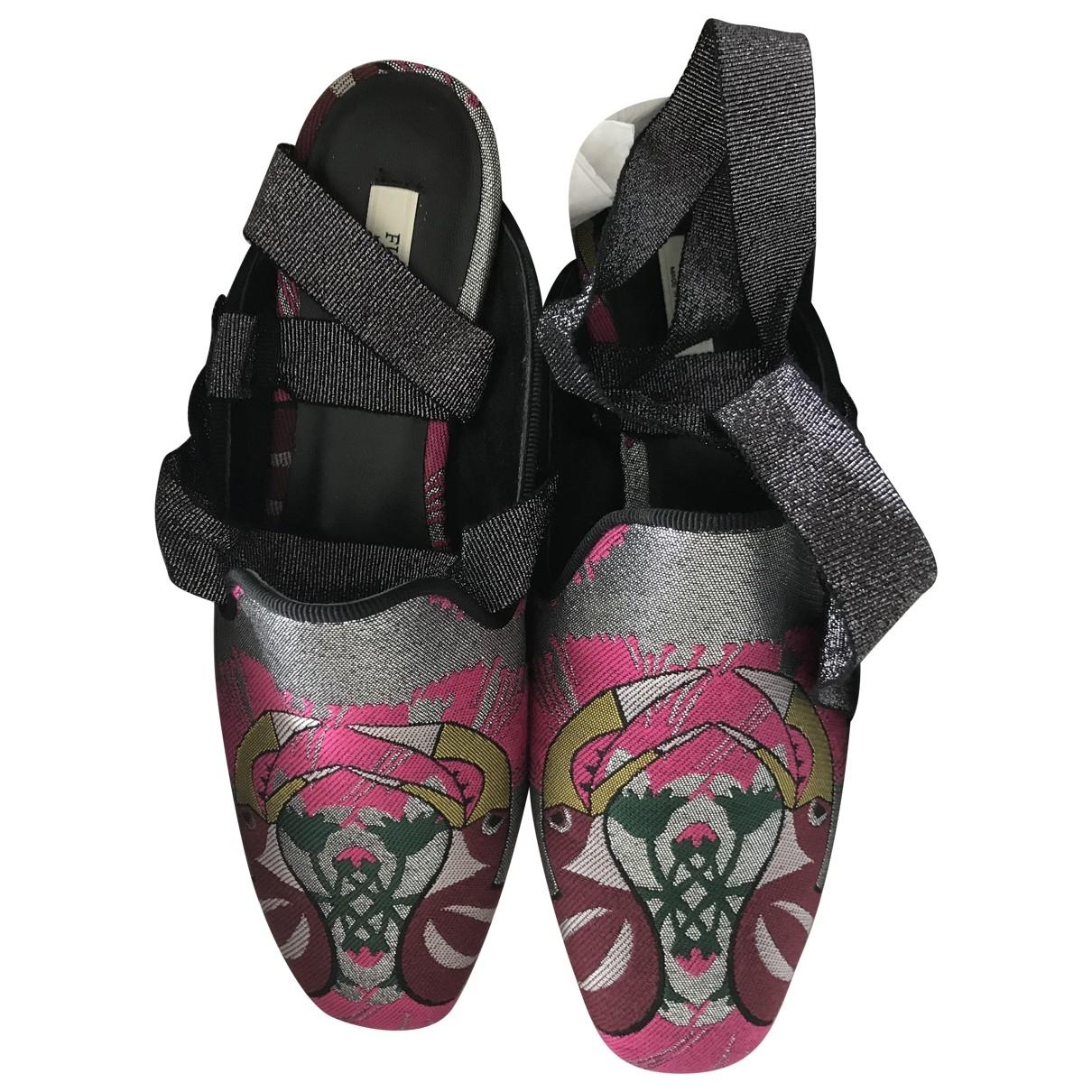 Furla \N Ballerinas in  Metallic Leinen
