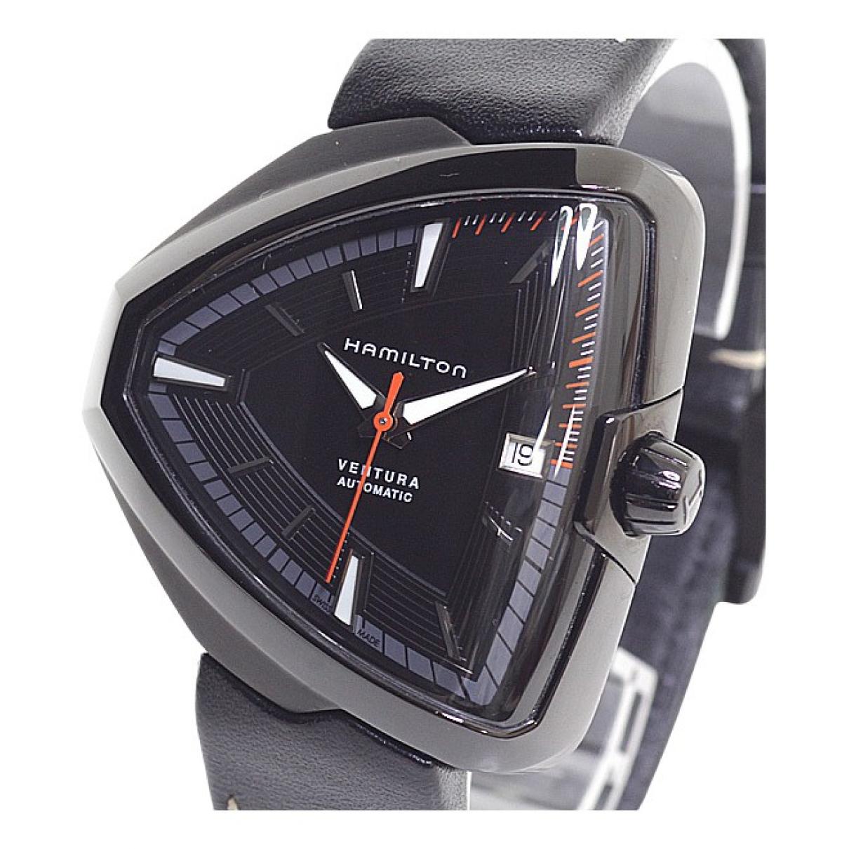 Hamilton \N Uhr in  Schwarz Stahl