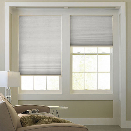 Home Expressions Cordless Light-Filtering Cellular Shade, One Size , Gray
