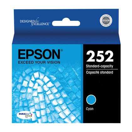 Epson 252 T252220 Original Cyan Ink Cartridge