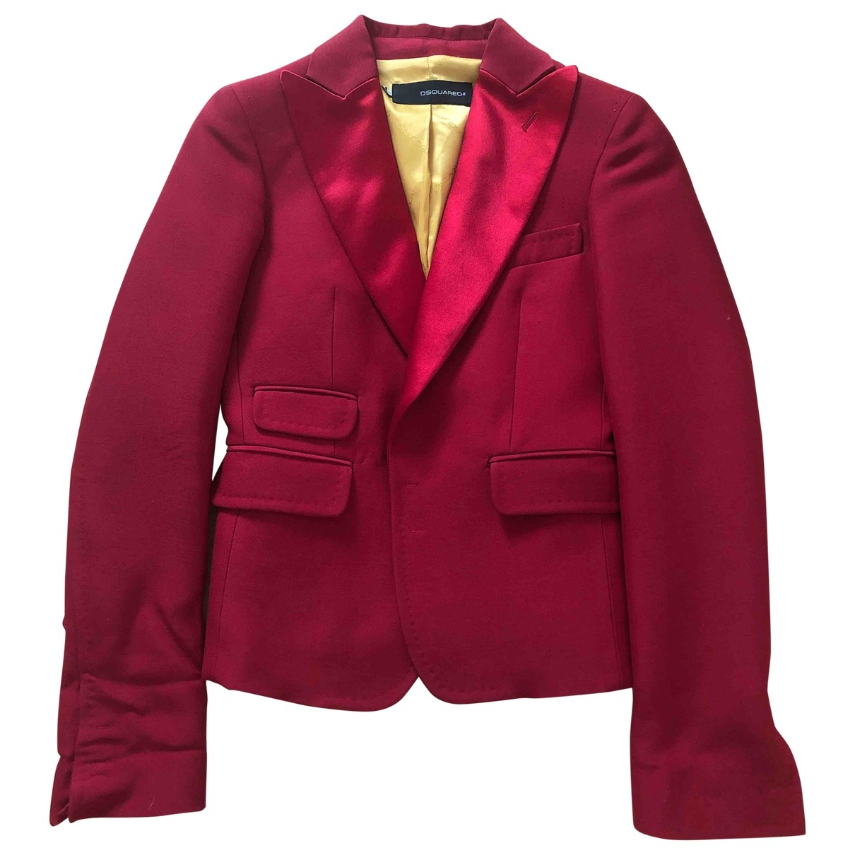 Dsquared2 \N Red Wool jacket for Women 40 FR