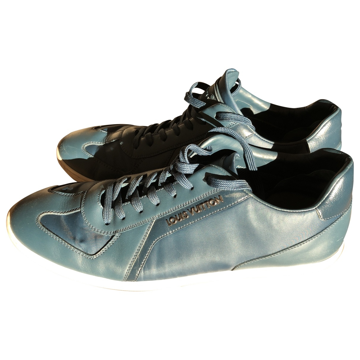 Louis Vuitton \N Blue Leather Trainers for Men 6.5 UK