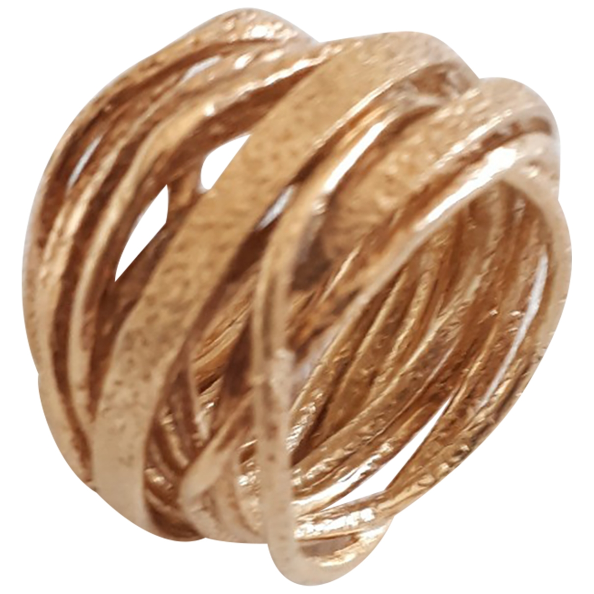 Non Signe / Unsigned Alliance Ring in  Gold Silber