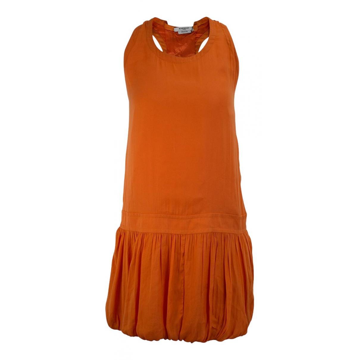 Givenchy - Robe   pour femme en soie - orange