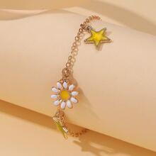 Star & Flower Decor Bracelet