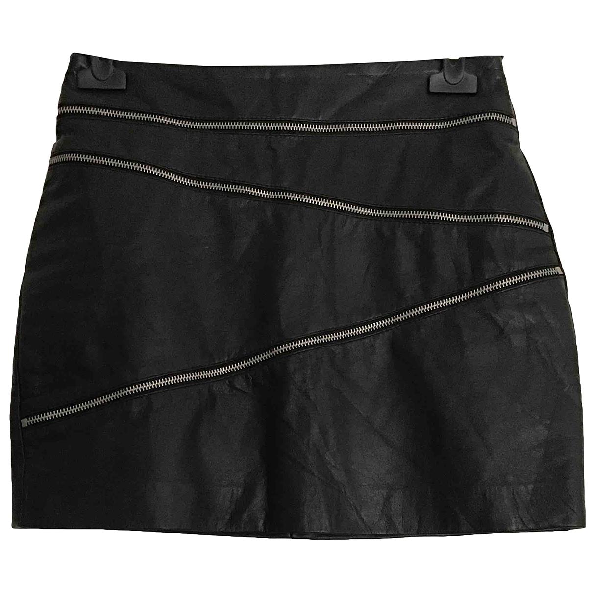 Mango \N Black Leather skirt for Women 34 FR