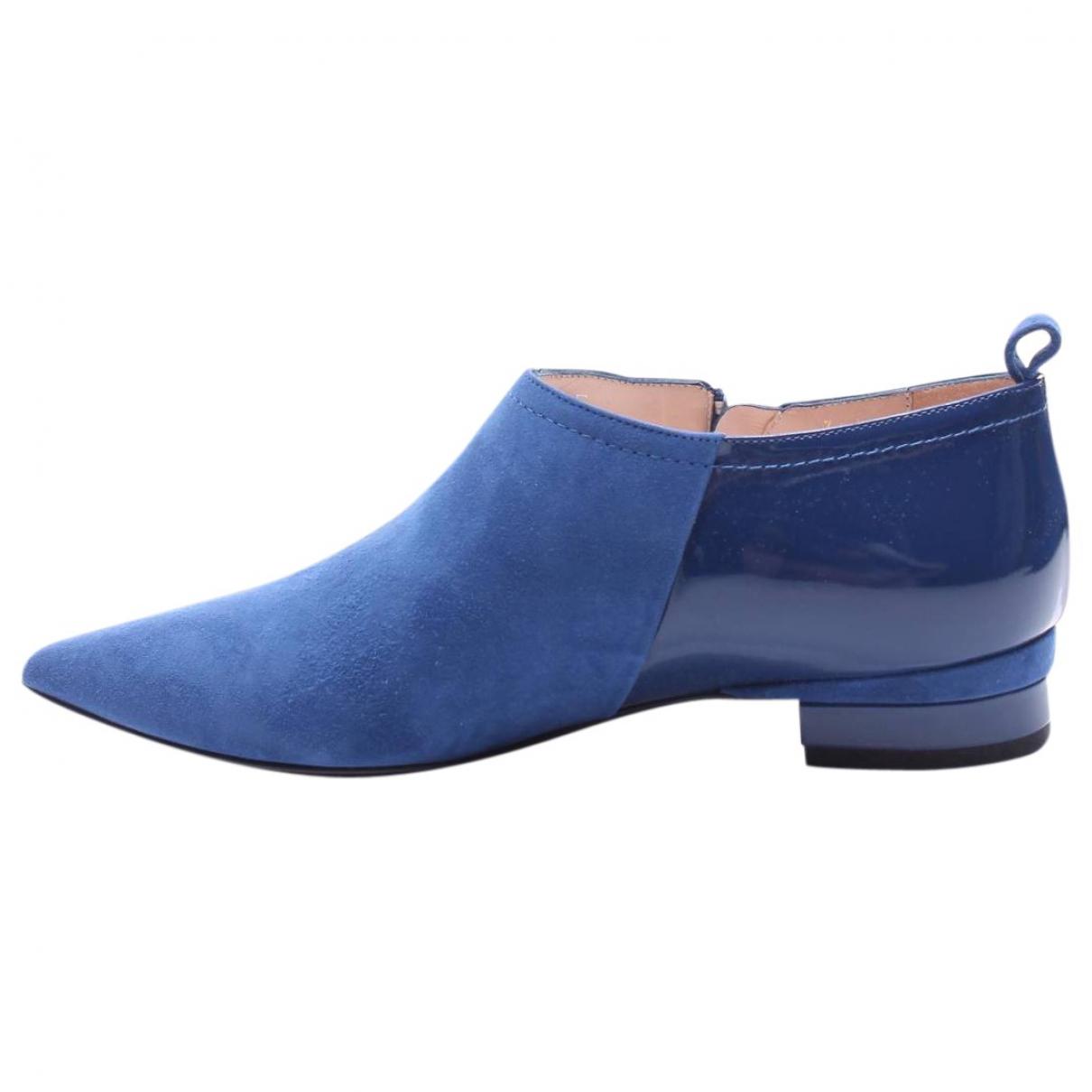 Furla \N Blue Suede Flats for Women 36.5 EU