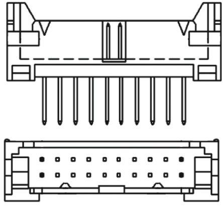 TE Connectivity , ML, 16 Way, 2 Row, Straight PCB Header