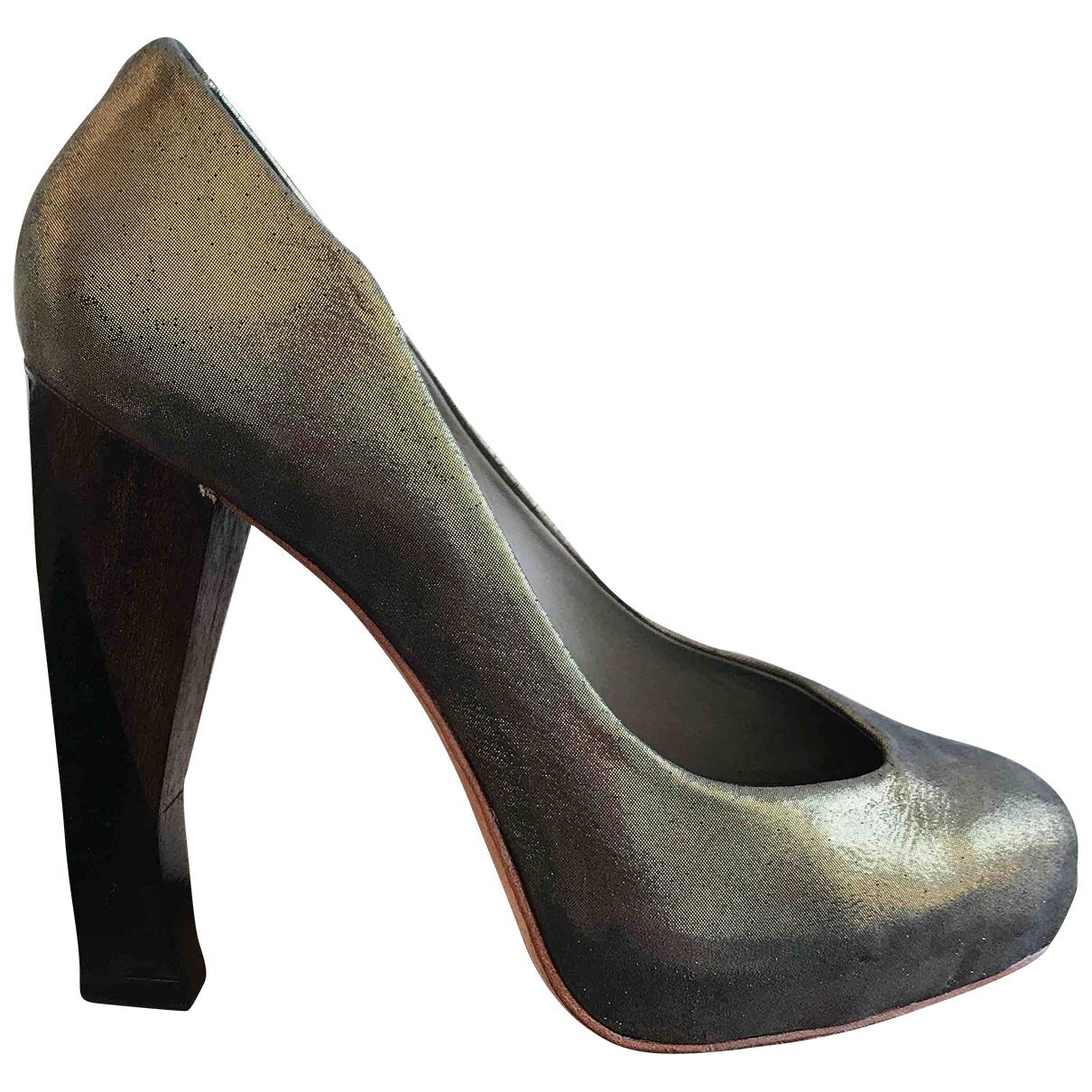 Finsk - Escarpins   pour femme en cuir - dore