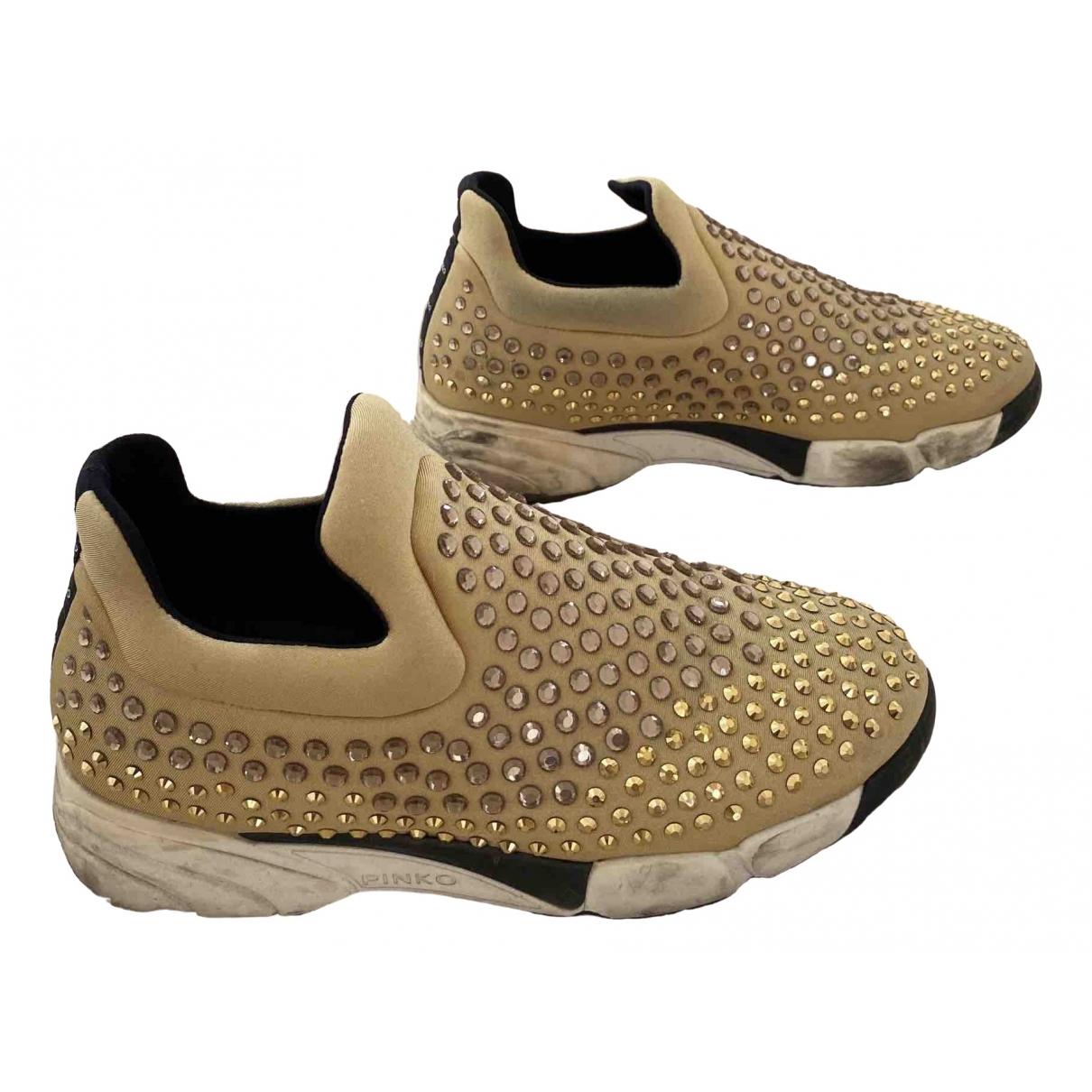 Pinko \N Sneakers in  Gold Mit Pailletten