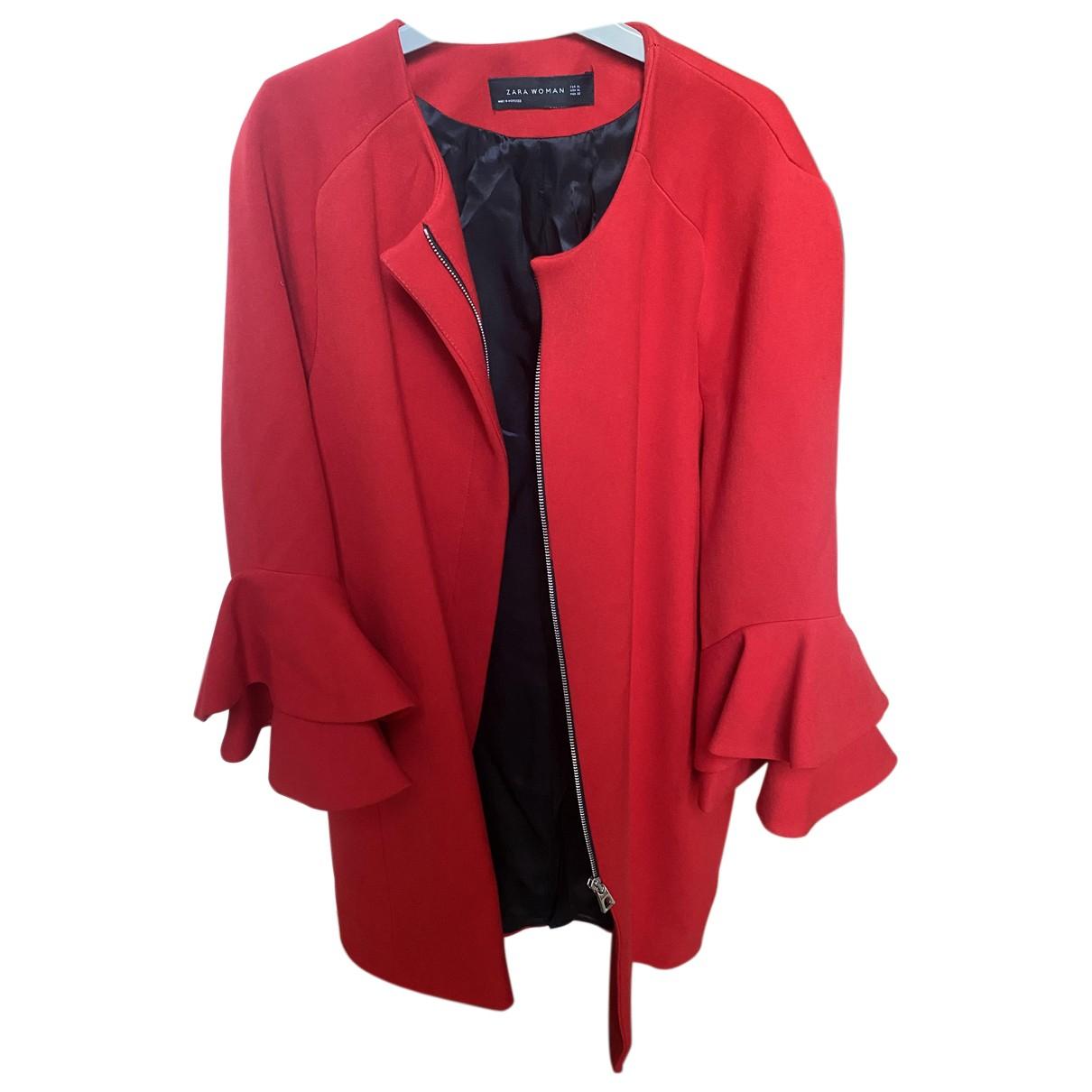 Zara - Manteau   pour femme - rouge