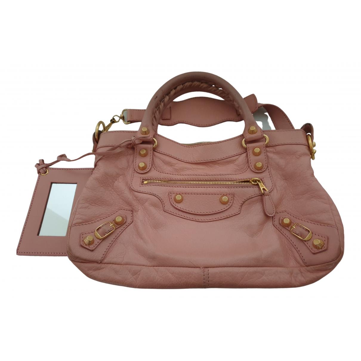 Balenciaga Town Pink Leather handbag for Women \N
