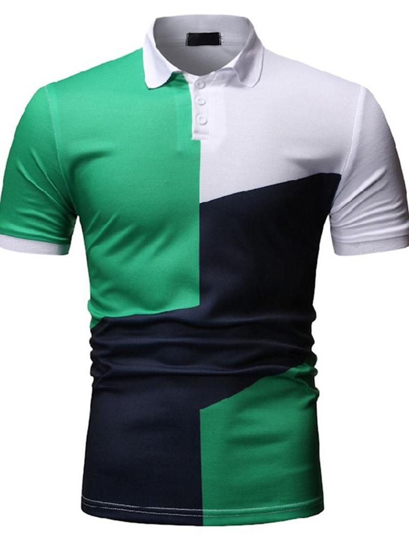 Ericdress Polo Neck Color Block Men's Polo Shirt