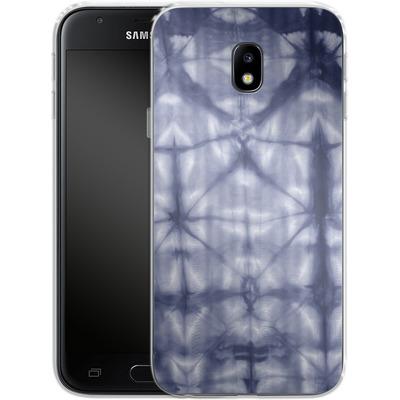 Samsung Galaxy J3 (2017) Silikon Handyhuelle - Tie Dye 2 Navy von Amy Sia