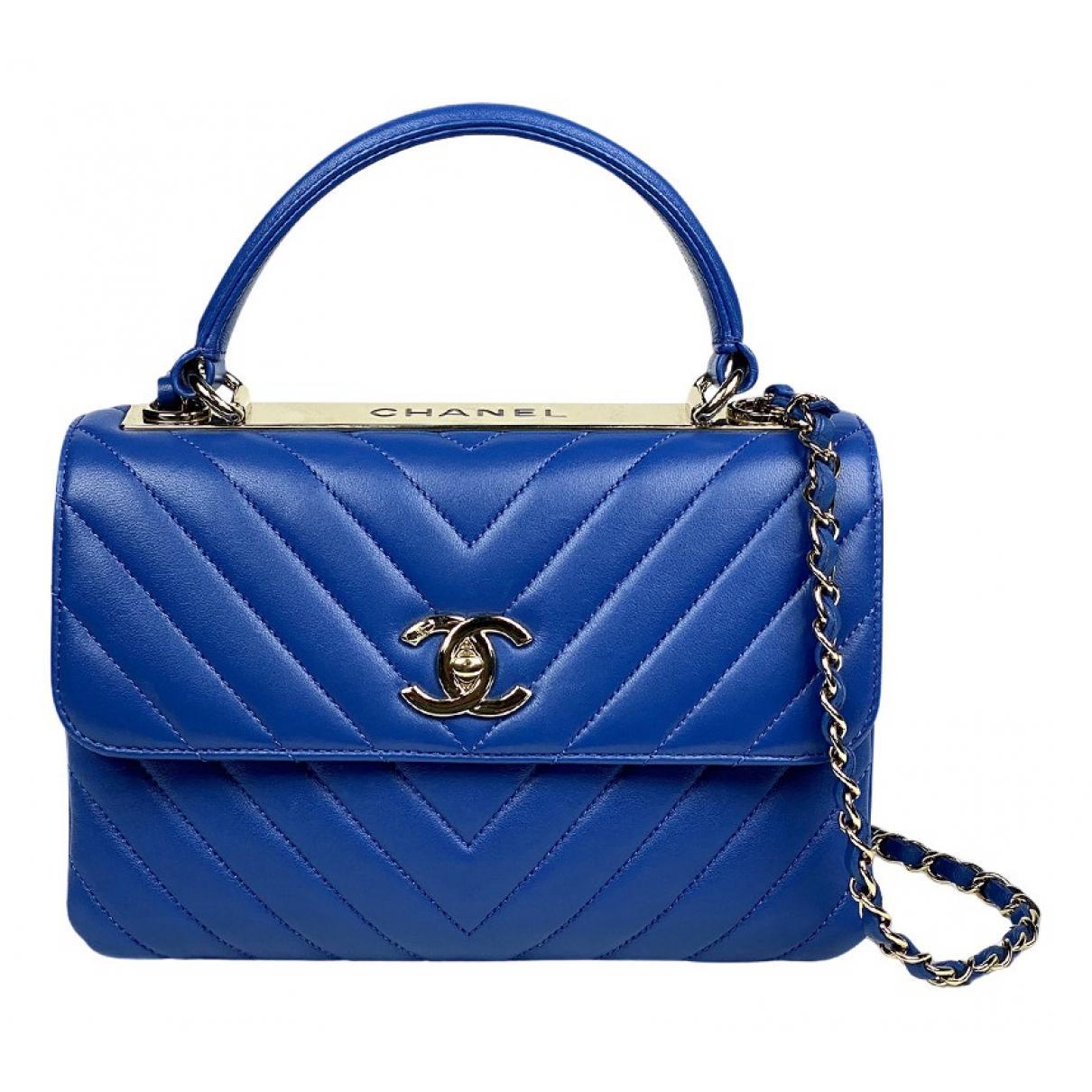 Chanel Trendy CC Blue Leather handbag for Women \N