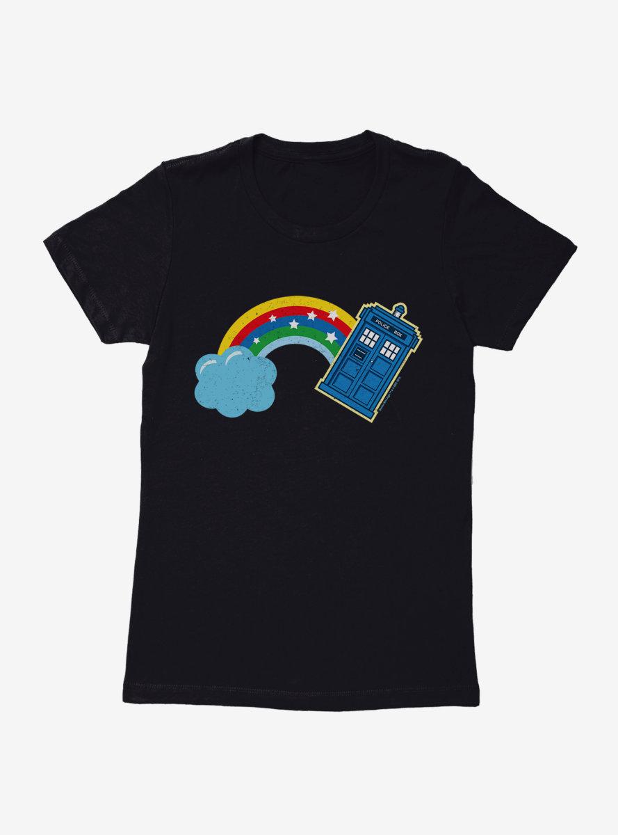 Doctor Who Thirteenth Doctor Distressed TARDIS Rainbow Womens T-Shirt