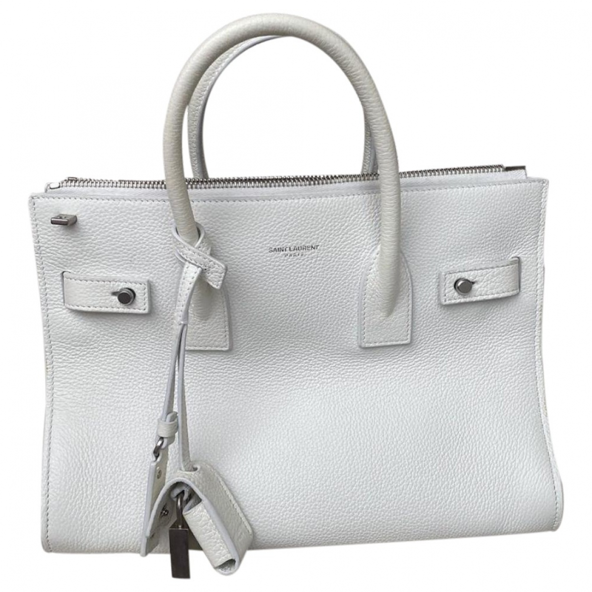Saint Laurent Sac de Jour White Leather handbag for Women \N
