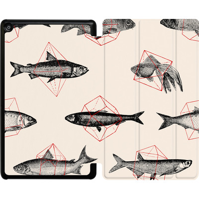 Amazon Fire HD 8 (2017) Tablet Smart Case - Fishes in Geometrics von Florent Bodart