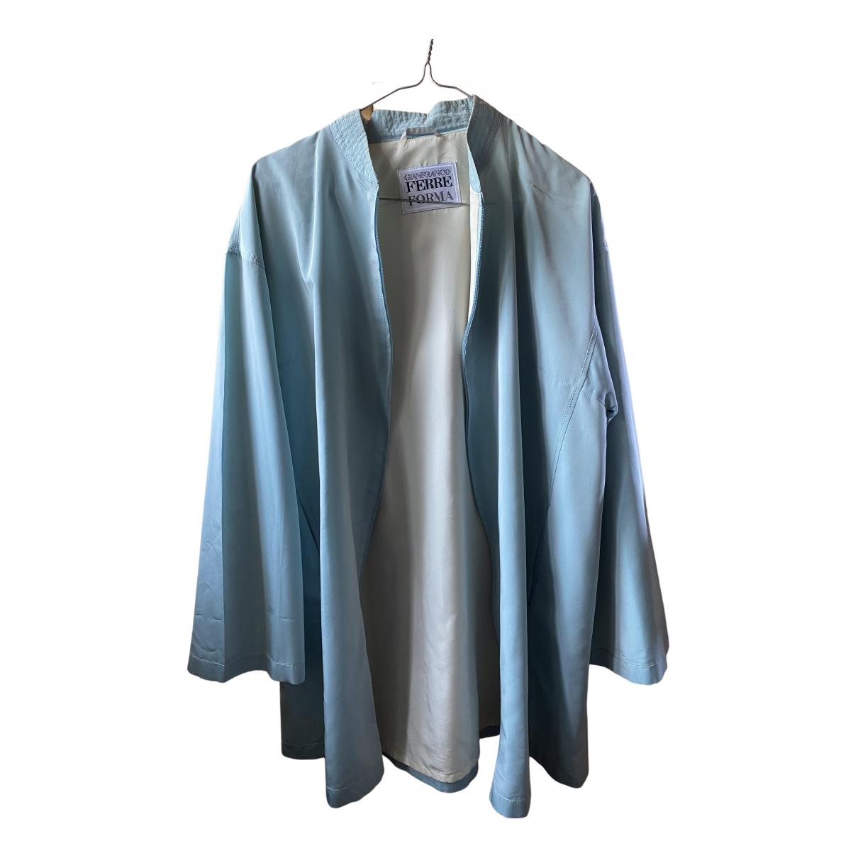 Gianfranco Ferre - Veste   pour femme - turquoise