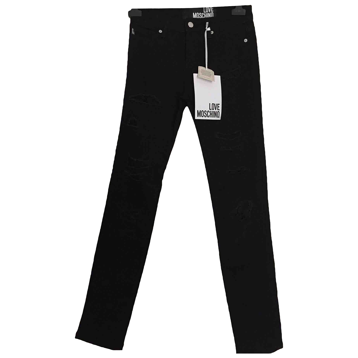 Moschino Love \N Black Denim - Jeans Jeans for Women 26 US