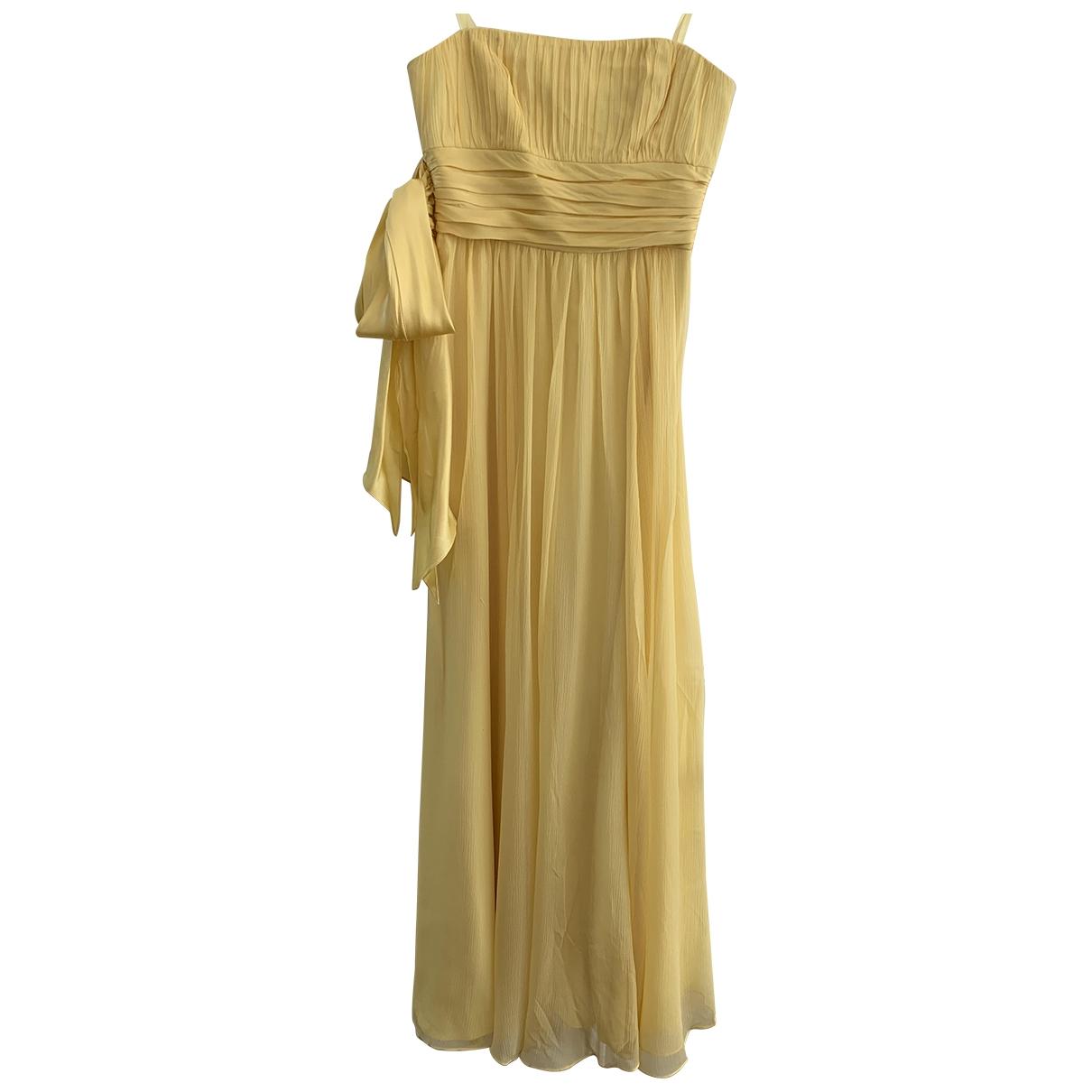 Bcbg Max Azria \N Yellow Silk dress for Women 4 US