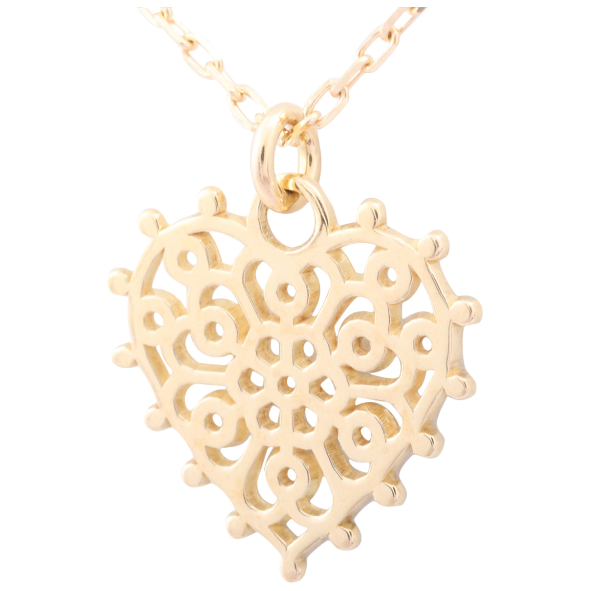 Non Signe / Unsigned Motifs Coeurs Kette in  Gold Gelbgold