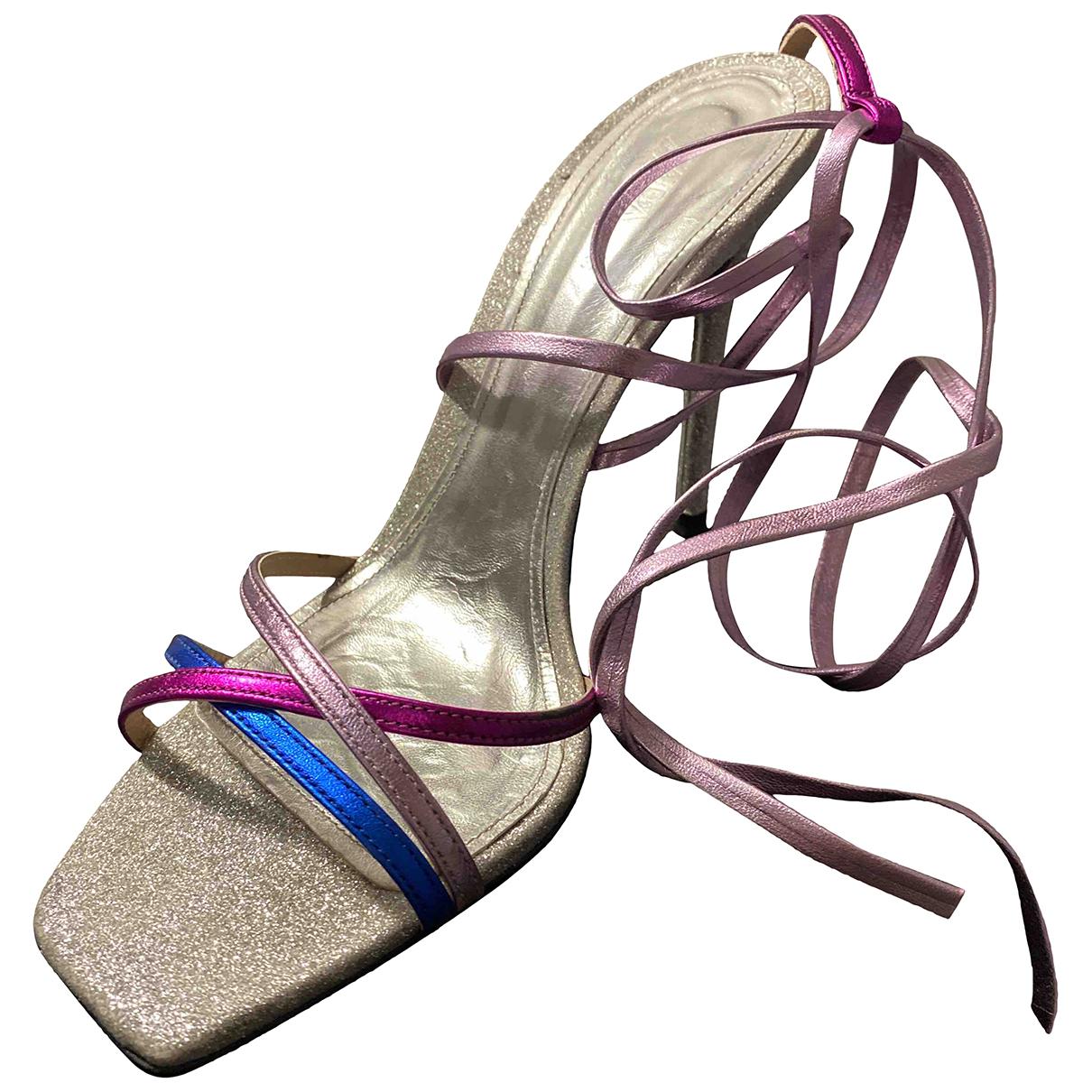 Zara \N Sandalen in Leder