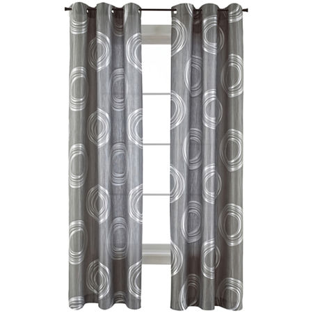 JCPenney Home Focus Grommet-Top Curtain Panel, One Size , Purple