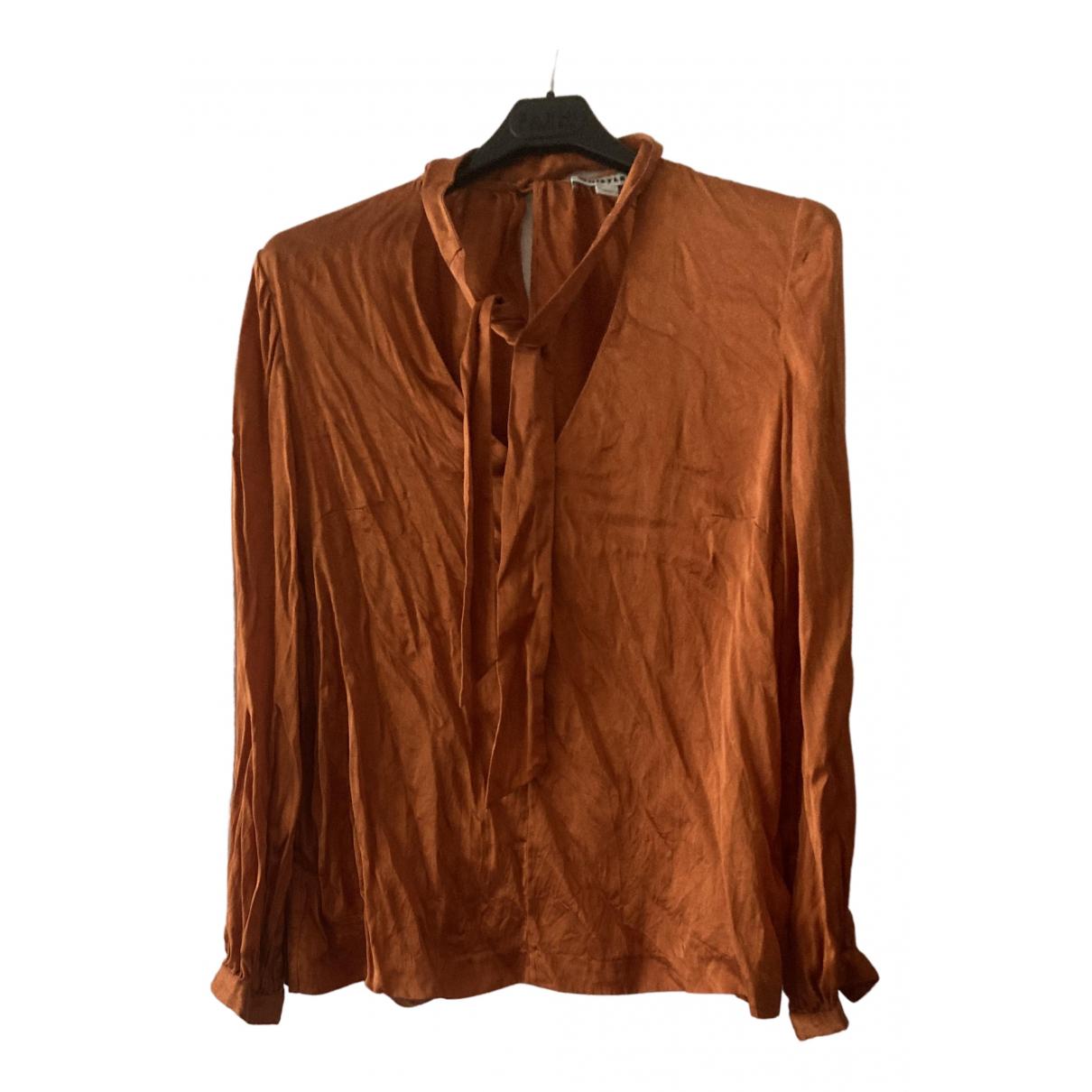 Whistles \N Top in  Orange Seide