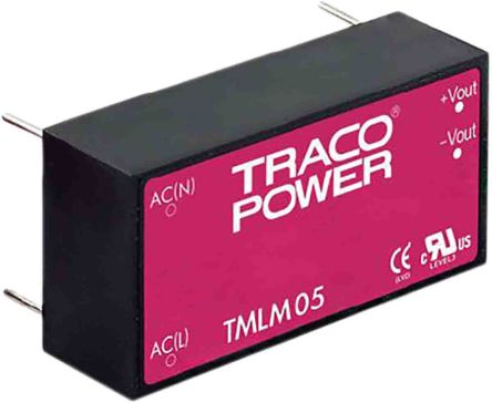 TRACOPOWER , 5W Embedded Switch Mode Power Supply (SMPS), 12V dc, Encapsulated,
