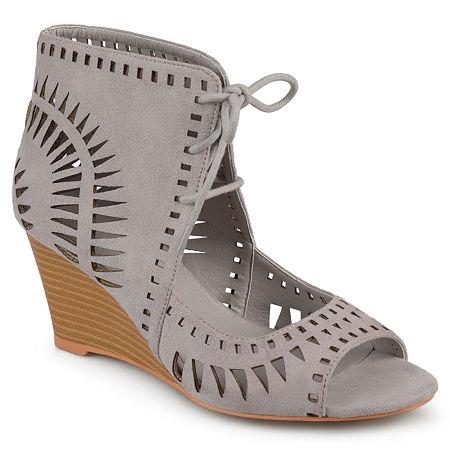 Journee Collection Womens Zola Pumps Wedge Heel, 11 Medium, Gray