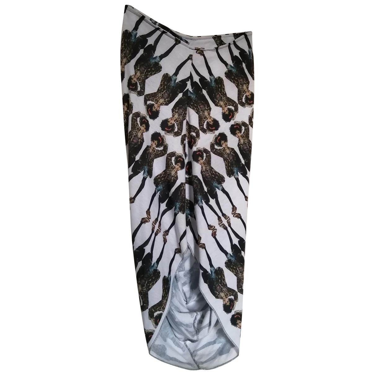 - Jupe Hippie Chic pour femme en coton - elasthane - multicolore