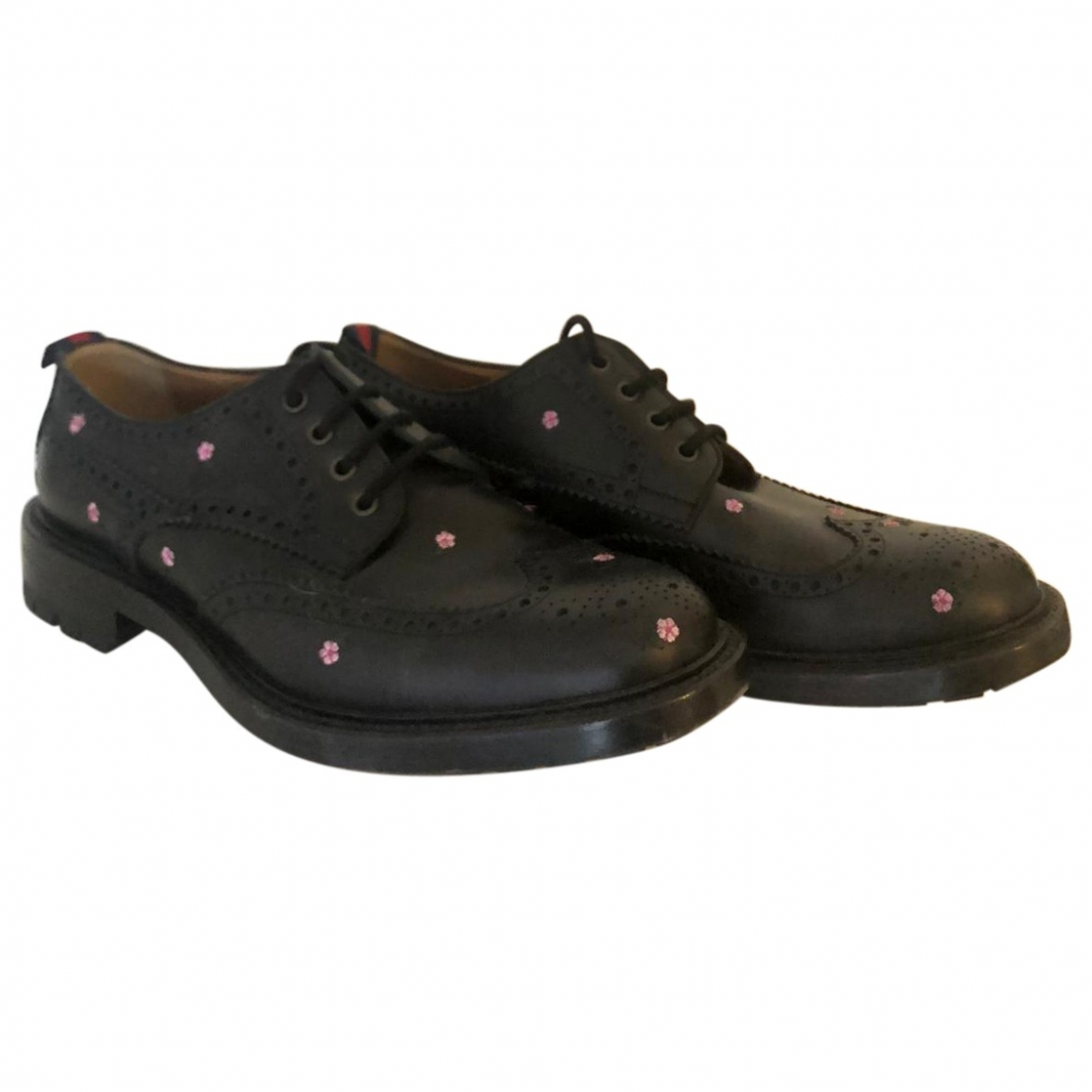Gucci \N Black Leather Lace ups for Men 10 UK