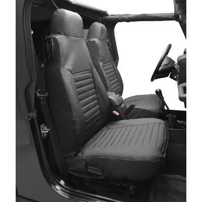 Bestop High Back Seat Covers (Black Denim) - 29224-15