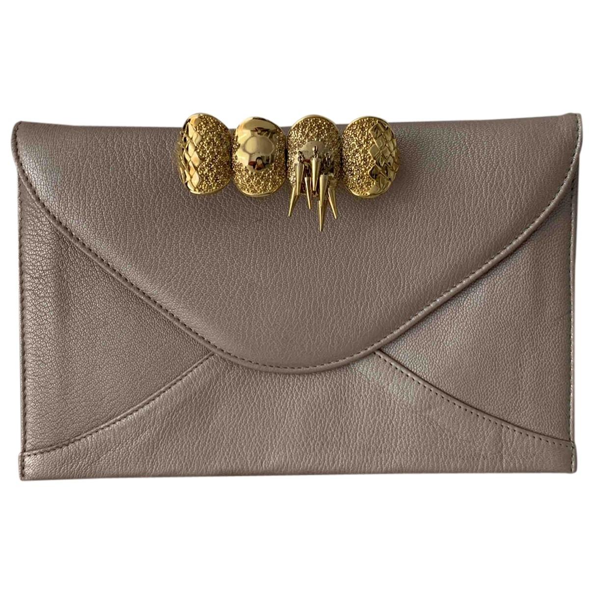 Maison Du Posh \N Metallic Leather Clutch bag for Women \N