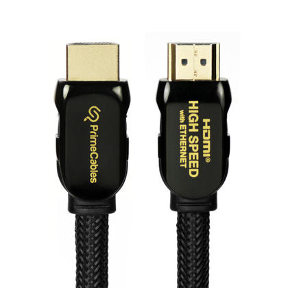Premium HDMI® 2.0 Cables with Nylon Jacket PrimeCables® Mamba Series - 3Ft (Black)