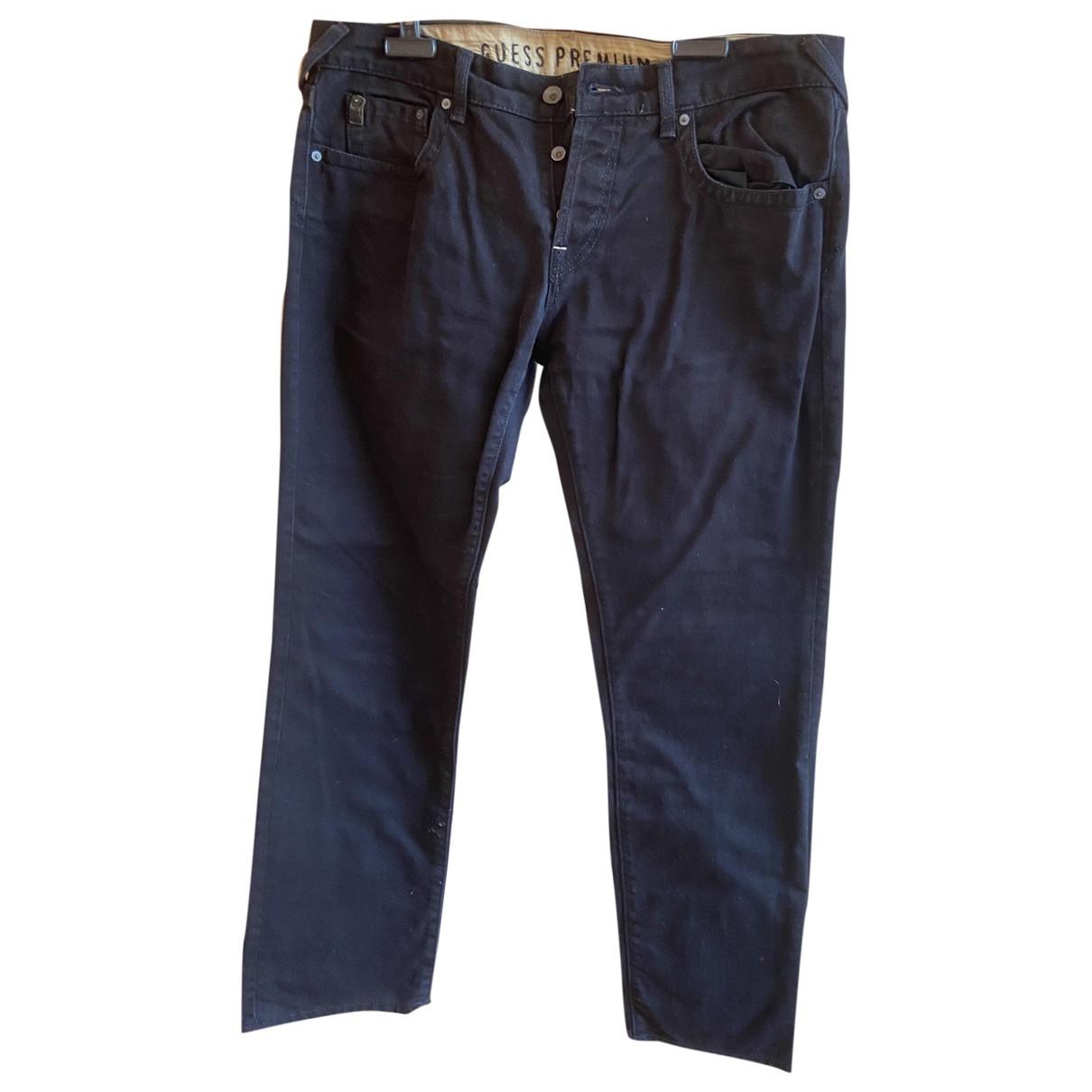 Pantalones en Algodon Negro Guess