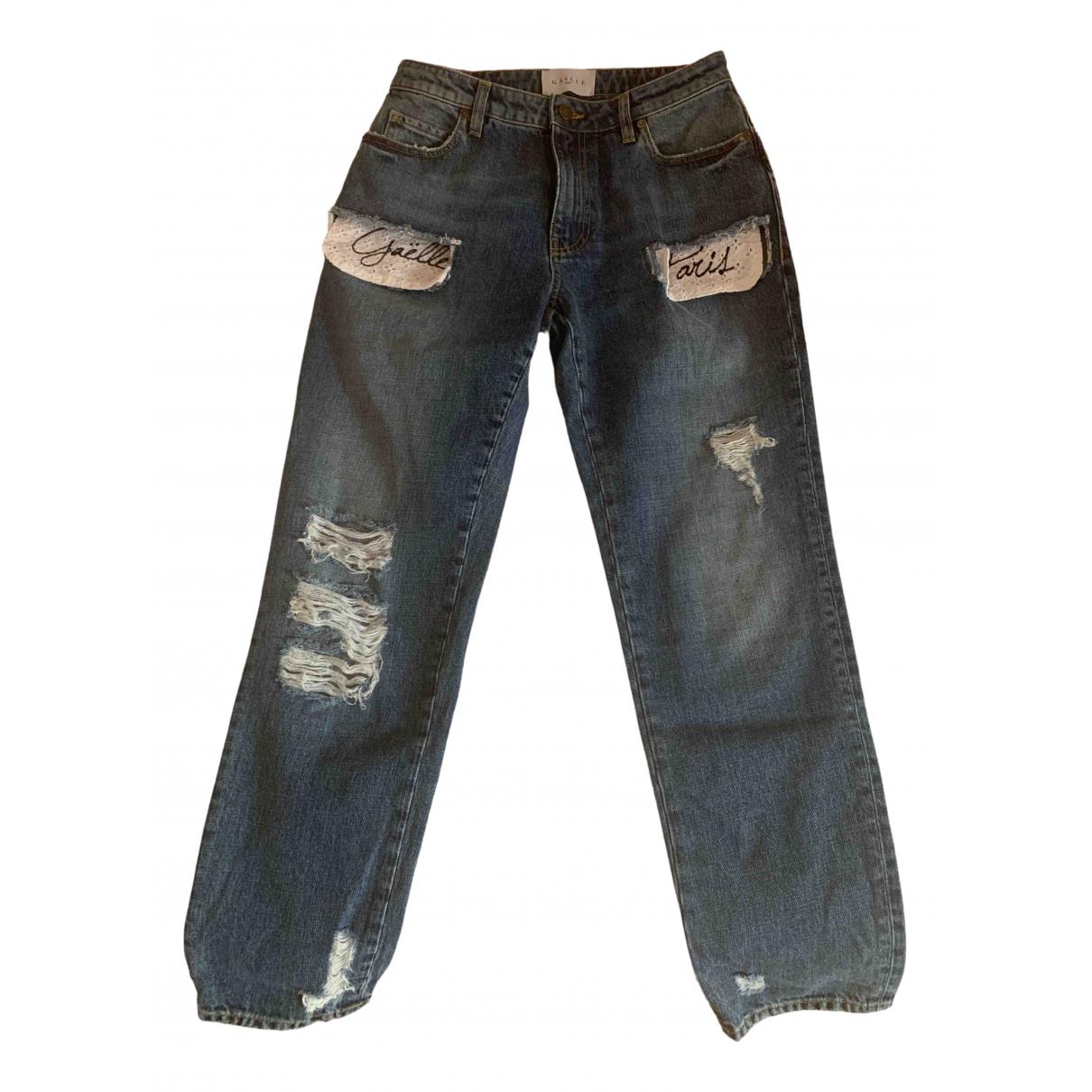Gaelle Paris \N Blue Denim - Jeans Jeans for Women 38 FR