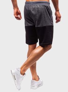 Guys Two Tone Drawstring Waist Athletic Shorts