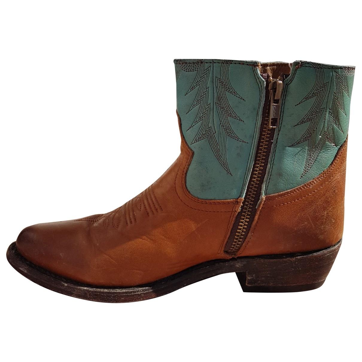 Moma - Boots   pour femme en cuir